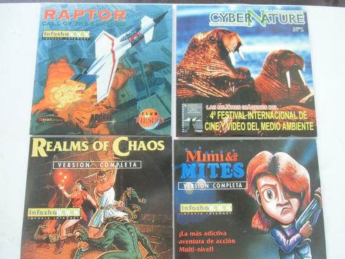 + cuatro discos de juegos en cd.  sexto grupo