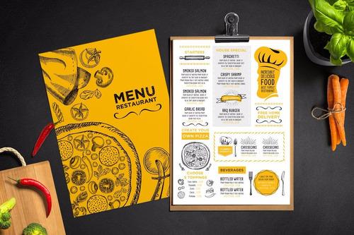 + de 100 plantillas diseño para tu restaurant, cartas...