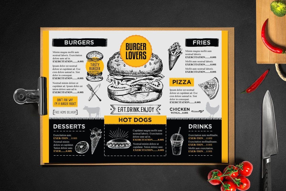 De 100 Plantillas Diseño Para Tu Restaurant, Cartas... - S/ 25,00 ...