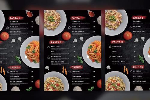+ de 100 plantillas editables para tu restaurant, cartas...