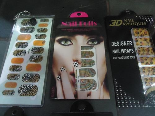 + de 60 adesivos de unhas 3d importados 6 cartelas nail art