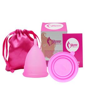 De Copa Menstrual - Seguro Y Suave + Bolsa Gratis+taza De Desinfección/sra/mujer/nadar/viajar/fuera/compras