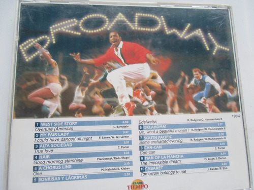 + disco cd de lo mejor de broadway 2 original importado