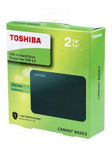 [ ] disco externo 2tb toshiba canvio basics usb 3.0/ 2.0 nue