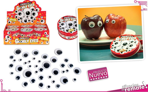 ¡ divertidos googly eyes emergency x40u decora fiesta !!