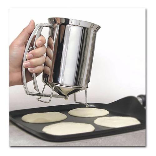 ¡ dosificador metálico para mezclas pancake handy gourmet !!