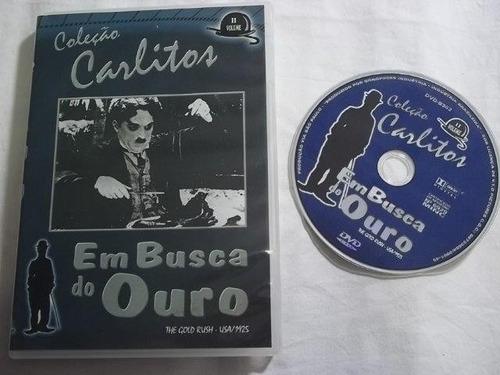 * dvd - carlitos - em busca do ouro - filmes classicos/cults