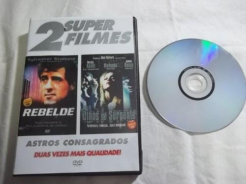 * dvd - rebelde / olhos de serpente - aventura