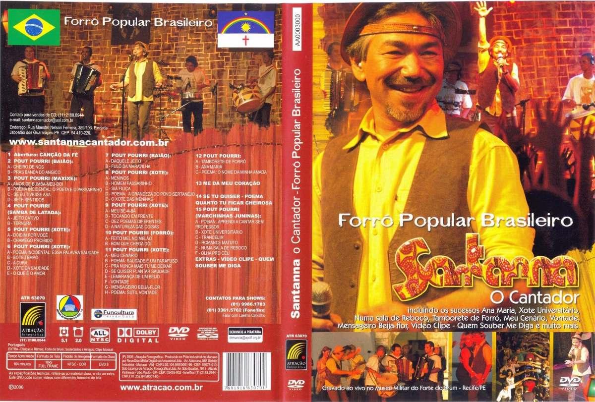 dvd santana o cantador