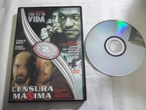 * dvd - uma vêz na vida / censura maxima - aventura