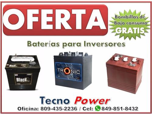 (( e s p e c i a l )) baterias de inversores - trojan rojas