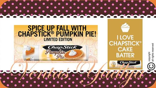¡ edición limitada x2 ! chapstick pumpkin pie & cake batter