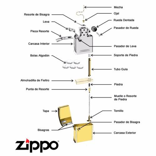 ¡ encendedor zippo stamped 8 ball bola ocho lighter !!