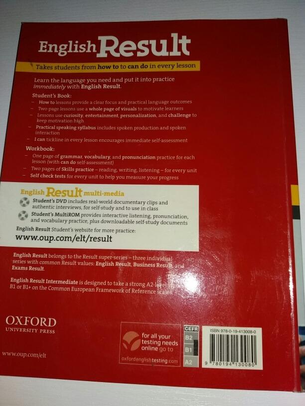 * English Result Intermediate Multipack B Oxford * B2