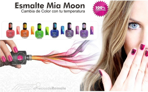¡ esmalte cambia de color morado rosado mia secret mood !!
