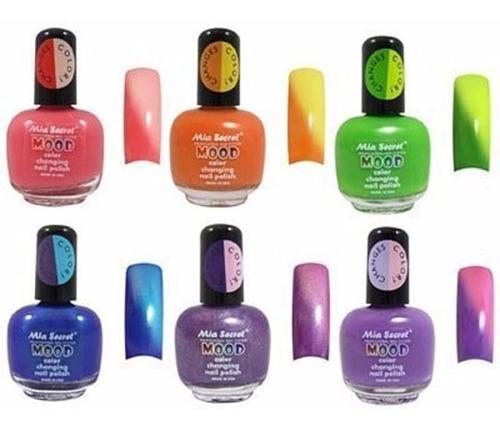 ¡ esmalte mia secret mood cambia de color con temperatura !!