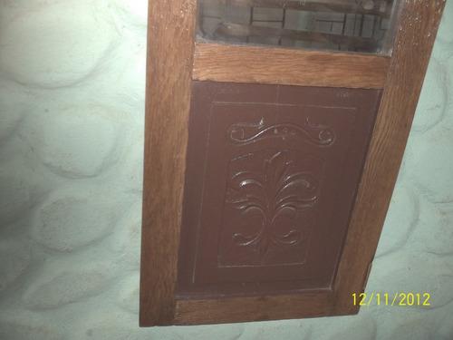 Espejo artesanal p llaves con puerta antigua de ropero for Espejos con puertas viejas