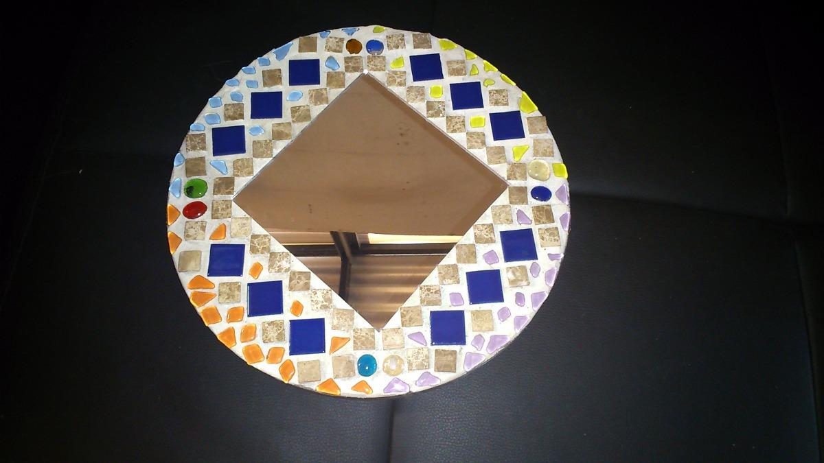 Espejos redondos mosaico en mercado libre for Donde comprar espejos redondos