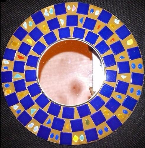 Mosaico Espejos. Espejo Mosaico. Hogar. Espejo Redondo. Red And ...