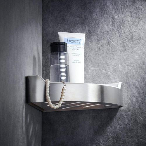 ¿ estante baño de la esquina triangular de la ducha montad