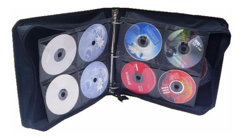 ¡ estuche porta-cd x300 triple argolla almacena cd dvd !!