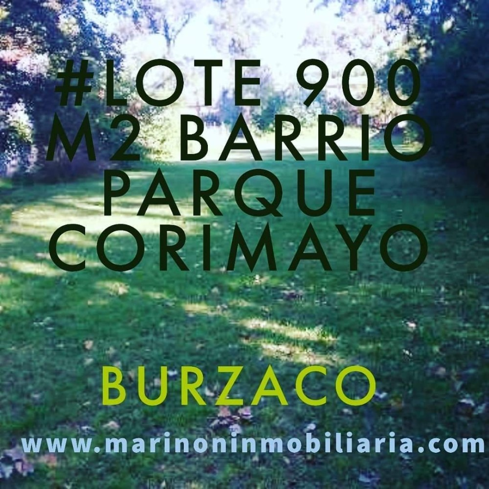 ### excelentes lotes 900 m2 ## barrio corimayo ## burzaco ##
