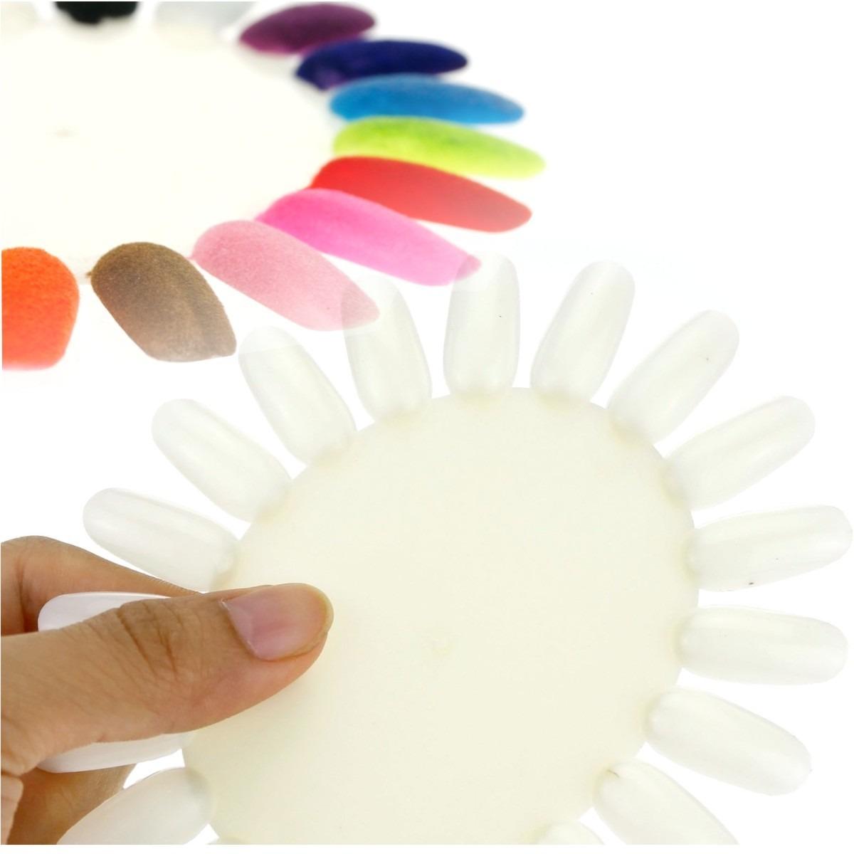 ¡ Exhibidor 20 Uñas Probador Mostrador Esmalte Nail Art