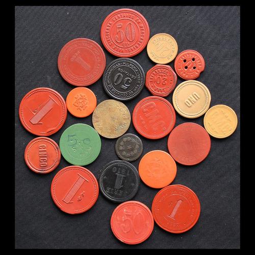 ¬¬ ficha minera lote 21 distintas token zp