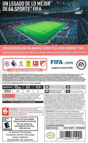 ..:: fifa 20 ::.. para  nintendo switch legacy edition