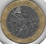 !!! francia bimetalica 10 francos 1989 imperdible !!!!