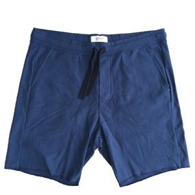 30df9f395b ( Gg ) Bermuda Osklen Em Moletom Azul Marinho