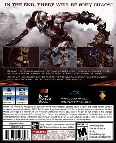 ..:: god of war 3 remastered ::.. para ps4 en game center