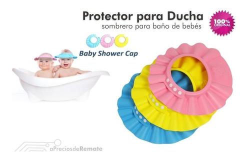 ¡ gorro visera de ducha para baño bebé niño protege ojos !!