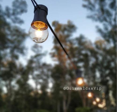 » guirnalda 20 mt exterior lluvia mas lamparas vintage calid