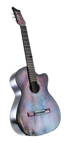 ¡ guitarra acústica para estudio boquete multicolor !!