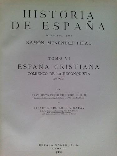 * historia de españa cristiana 711-1038. r. menéndez p