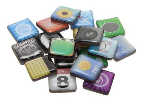 ¡ iconos magnéticos iphone 5 4 apps pega nevera metal new !!