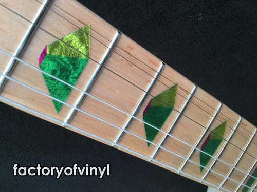 (*) inlays stickers pirámides tipo jem ibanez para guitarra