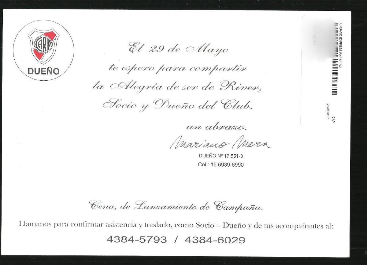 Invitacion Cena De Lanzamiento De Campaña River 40 00