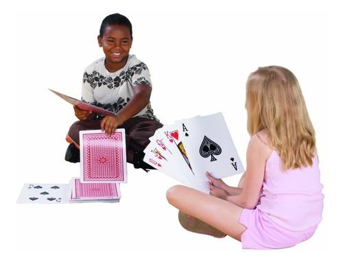 ¡ juego de cartas poker gigante xxl jumbo 30x20cm nuevo !!