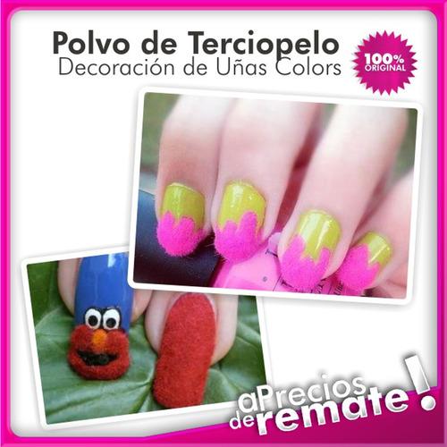 ¡ kit 12 polvo terciopelo tendencia decora art uñas felpa !!