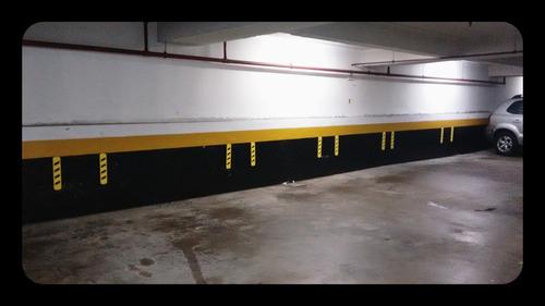 * kit 2 pecas batente eva protetor garagem parede parachoque