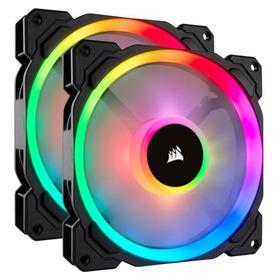 Kit 2x Ventoinha Ll140 Rgb 140mm Dual Light Loop Rgb Led
