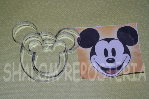 * kit 3 cortadores galleta mickey mouse fondant royal icing