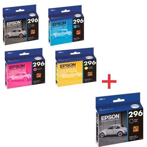 ' kit 5 cartucho original epson para xp231 xp241 xp431 296