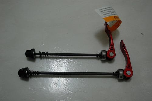 *** kit blocagens rodas mtb em aluminio vermelha ***