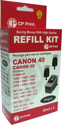 + kit de recarga para cartridges canon 40, 50 +