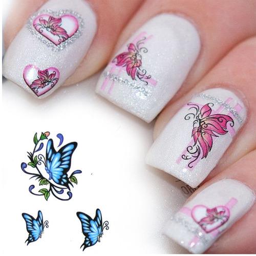 ¡ kit de tatto modelos new uñas stickers al agua nail art !!