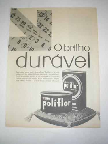 ( l - 290/ g ) propaganda antiga cera poliflor # 6