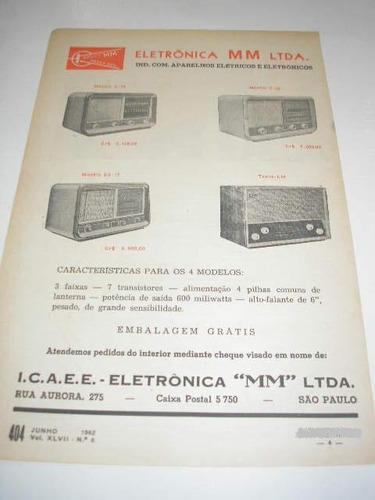 ( l - 290/ g  ) propaganda antiga eletronica mm - rádios